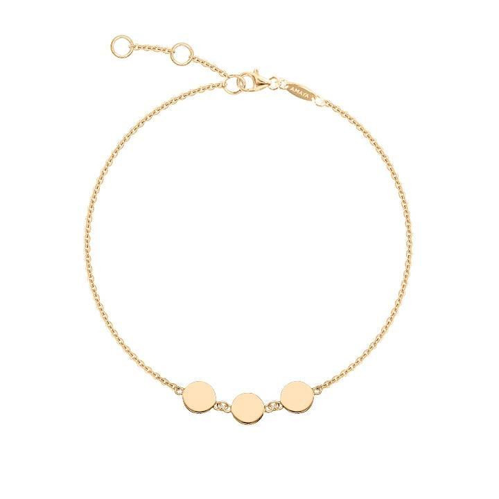 Gold-plated bracelet with 3 medals
