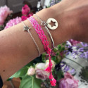 Half bangle and chain bracelet with perforated star