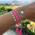 925 Silver small hammered medals chain bracelet - L'Atelier d'Amaya