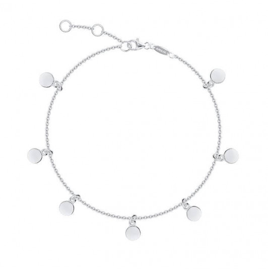 Mini smooth hanging medals chain bracelet