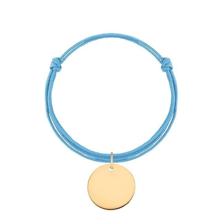 Double tie bracelet with medal