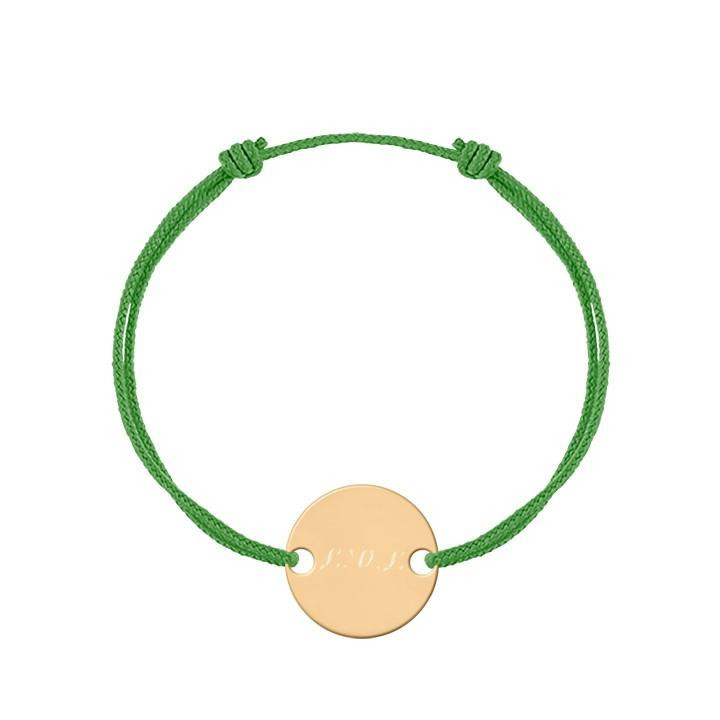 Gold-plated tie bracelet with medal