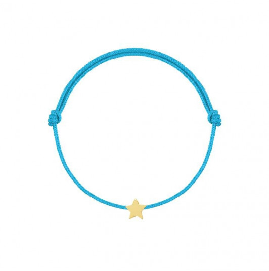 Tie bracelet with little star
