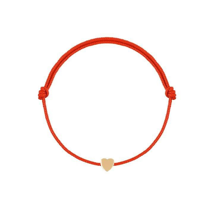 Tie bracelet with small heart