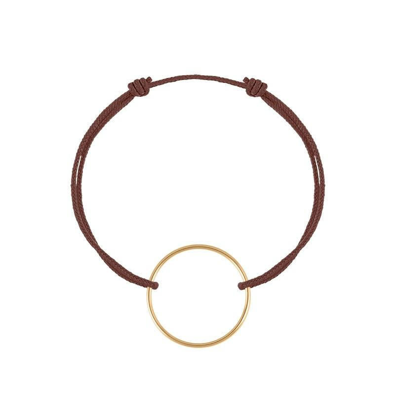 Gold-plated ring tie bracelet
