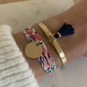 Gold-plated liberty bracelet with medal