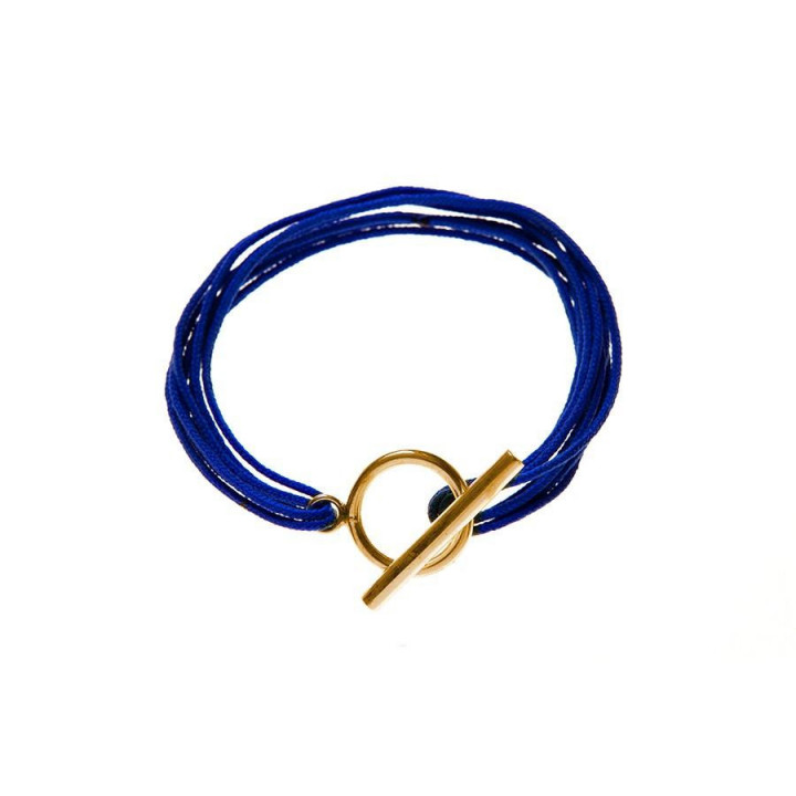 Multiple tie bracelet with T toggle