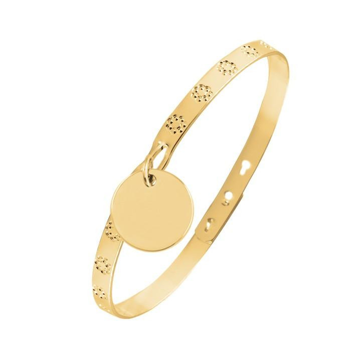 Lock bangle with hook and medal