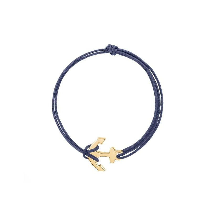 Tie bracelet with anchor