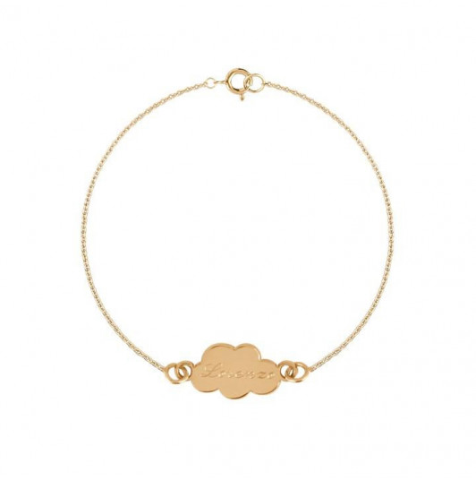 Chain bracelet with small cloud