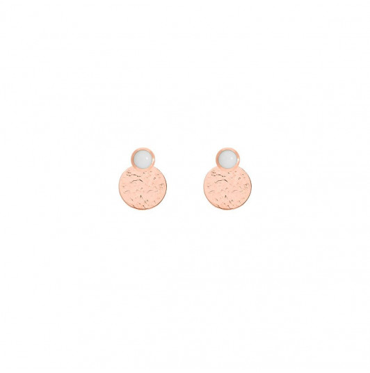 Rose gold-plated white turquoise Aria earrings