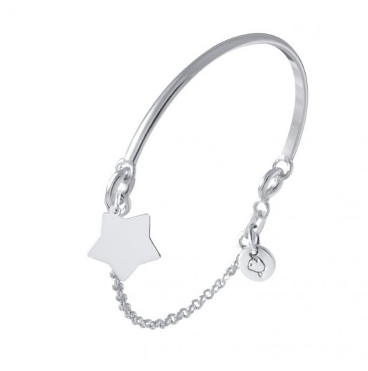 Star half chain and half bangle bracelet