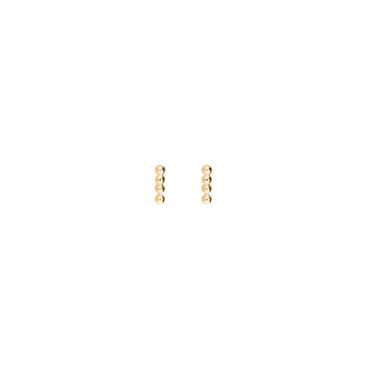 Gold-plated small beads stud earrings
