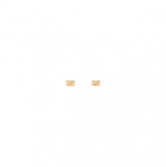 Small textured rectangles stud earrings