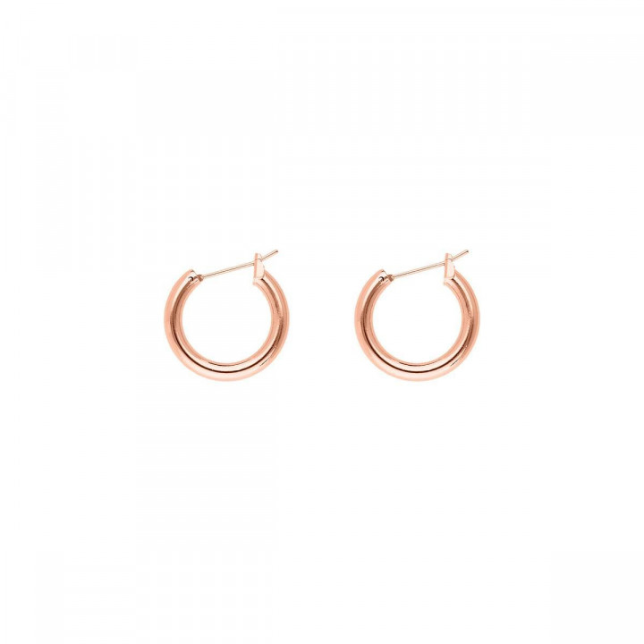 Rose gold-plated small thick hoop earrings