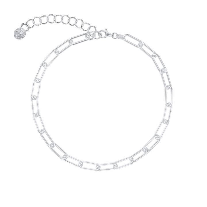 925 Silver chain bracelet with large links