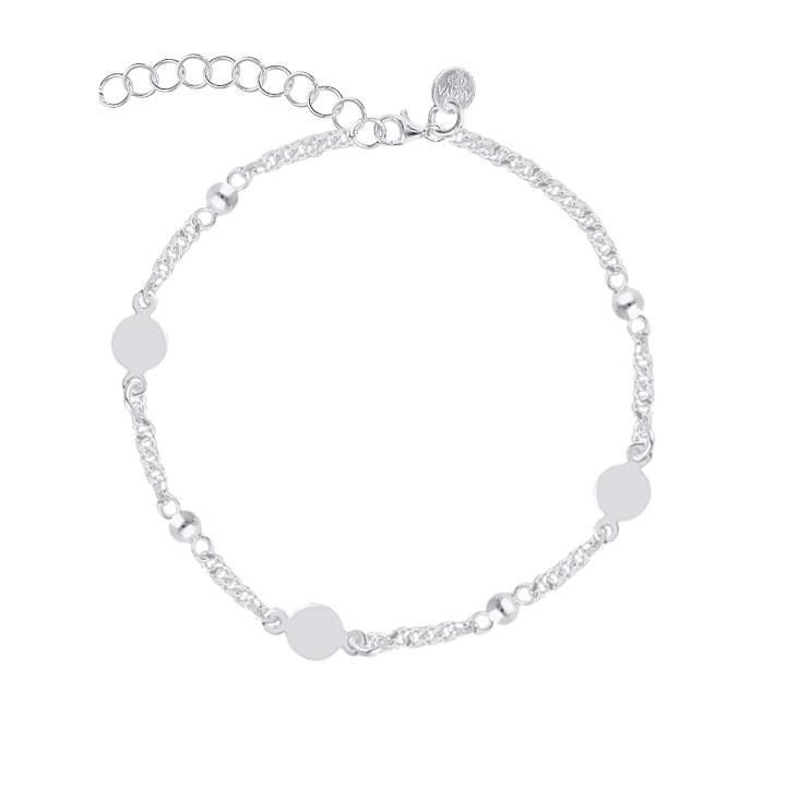 925 Silver Beads & medals chain bracelet