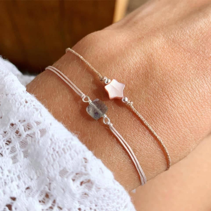 925 silver tie bracelet with hammered row