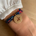 Liberty bracelet with gold-plated large hollowed star medal