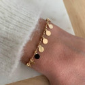 Gold-plated chain bracelet with 8 mini medals