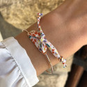 Bracelet jonc cordon liberty en plaqué or rose
