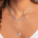 Gold-plated white turquoise Naïa chain necklace