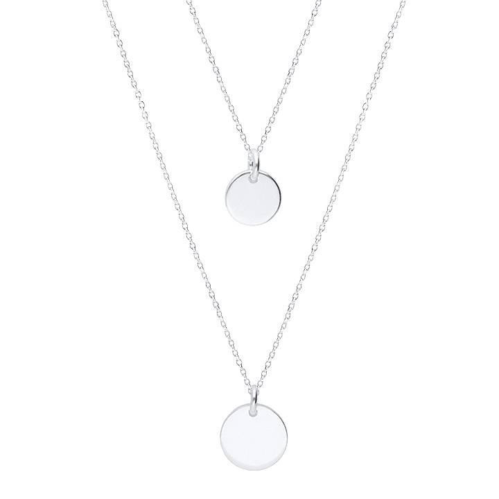 925 silver Two-row necklace with medals