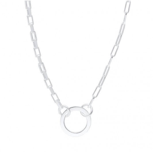 Large chain necklace with ring
