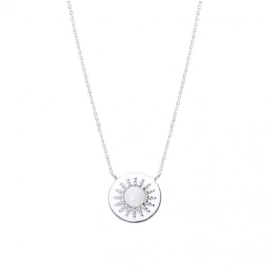 White turquoise medal chain necklace