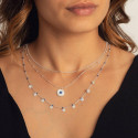 925 silver beaded chain necklace with Lapis Lazuli medal