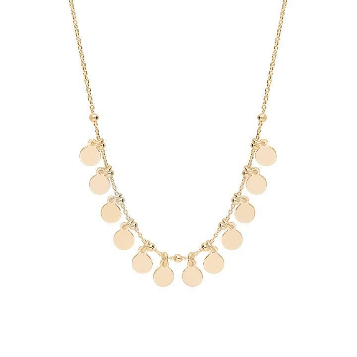 Gold-plated chain necklace with 12 mini medals