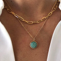 Gold-plated chain necklace with large & thick links