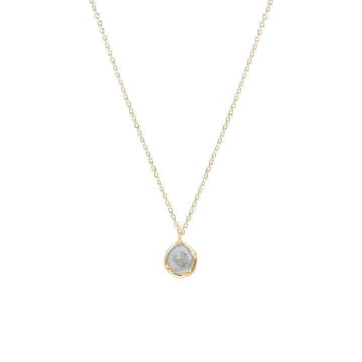 Gold-plated chain necklace with labradorite pendant
