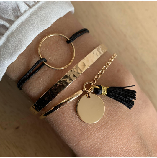 Gold-plated Leila bracelet set
