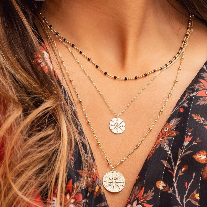 Gold-plated Astraia necklace duo