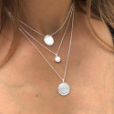 925 Silver white turquoise Naïa chain necklace