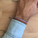 Bangle bracelet with 3 cords for men