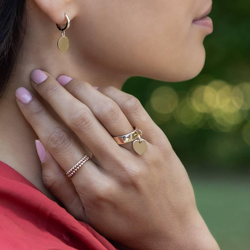 Gold-plated thin ring with small beads