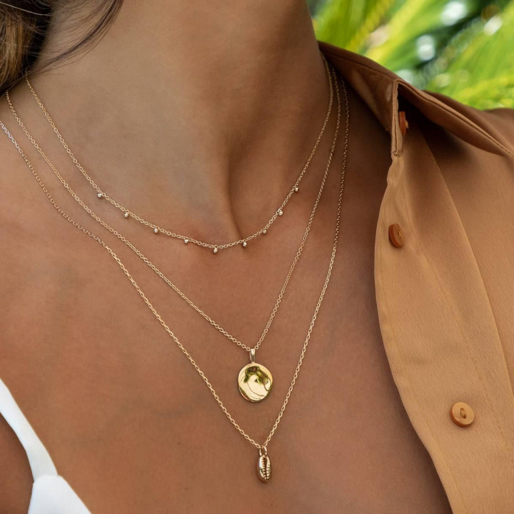 Gold-plated Moïra necklace