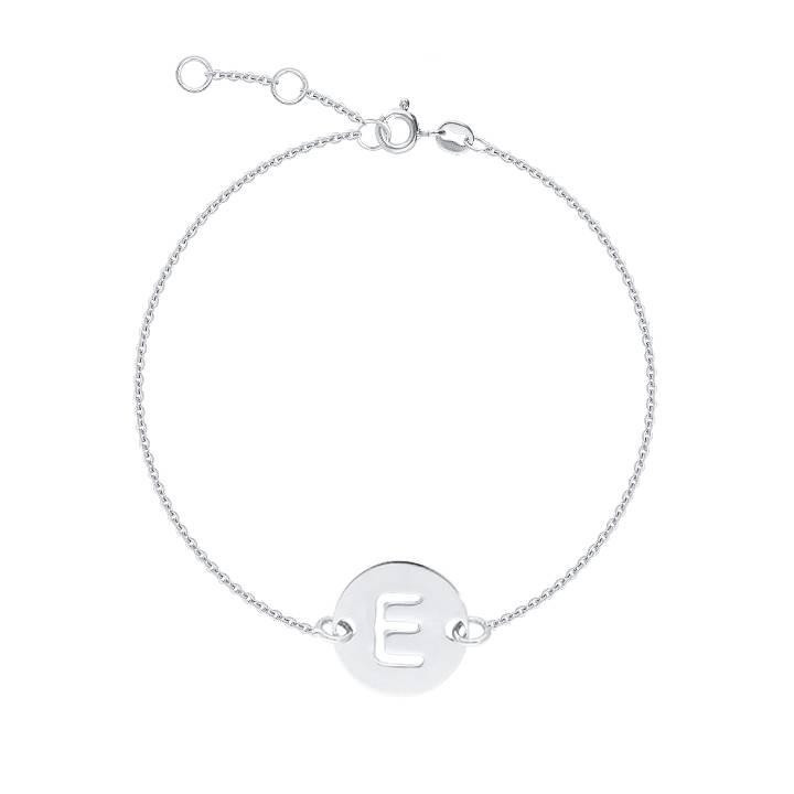 Chain bracelet with perforated initial