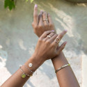 Gold-plated chevron ring