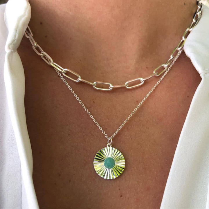 925 Silver chain necklace with large & thick links