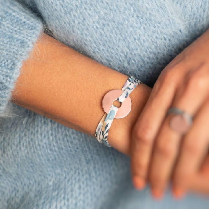 Liberty bracelet with rose gold-plated small target