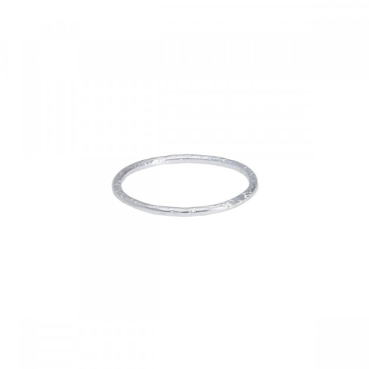 925 Silver textured thin ring