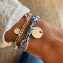 Liberty bracelet with 925 Silver hollowed star medal