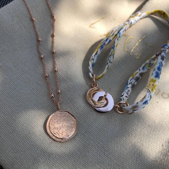 Rose gold-plated Naïa chain necklace