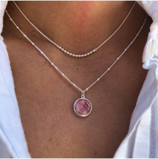 Beads & rhodonite necklace set