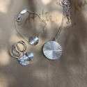 925 silver chain necklace with striated medal