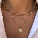 Gold-plated stars & beads necklace set