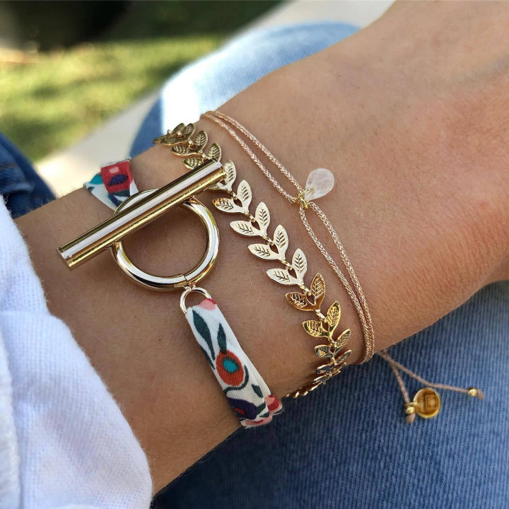 Gold-plated Coquelicot bracelet set